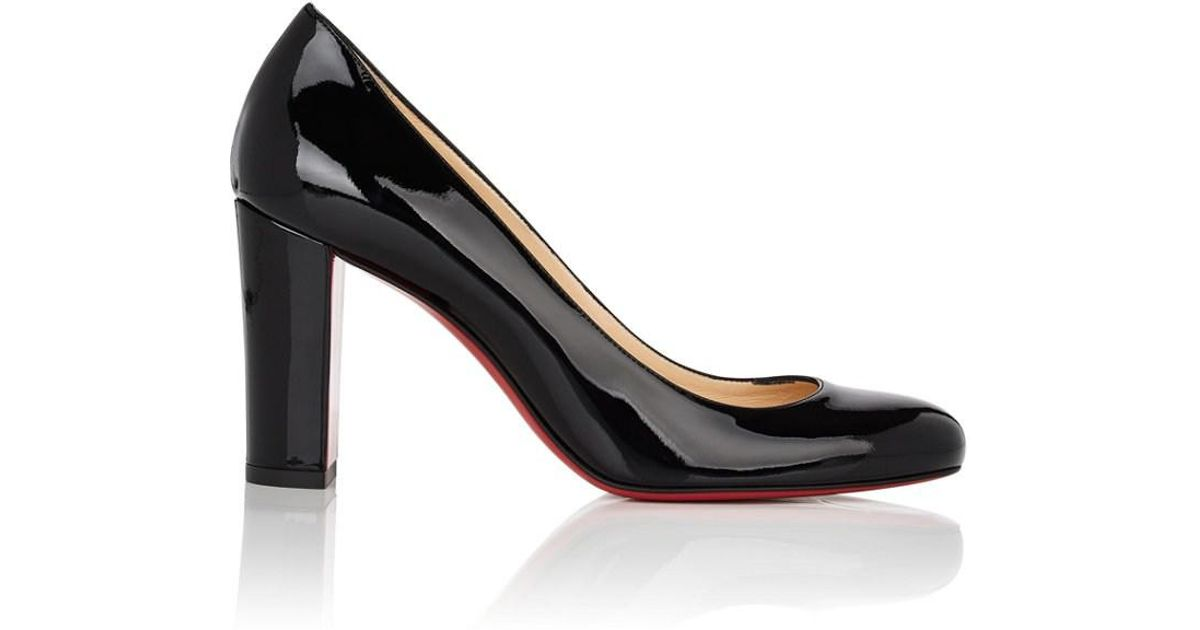 062d33c4f893 Lyst - Christian Louboutin Lady Gena Patent Leather Pumps in Black