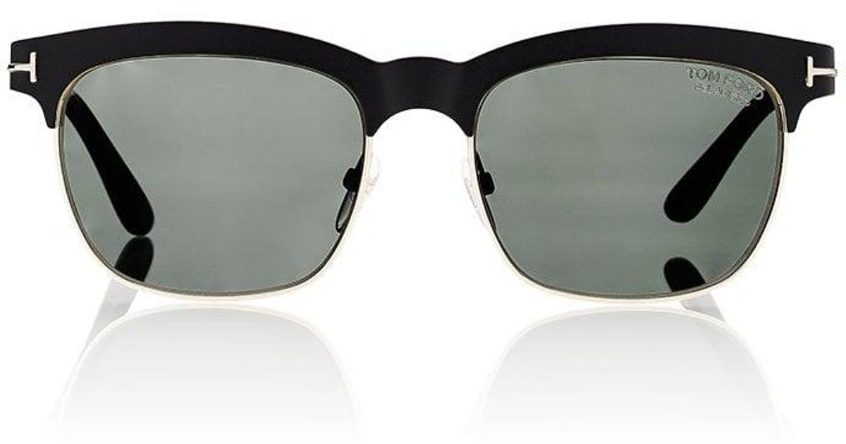 7e0d7eb4146 Lyst - Tom Ford Elena Sunglasses in Black