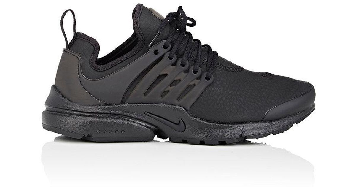 b7561bc50059 ... where to buy lyst nike air presto premium leather sneakers in black for  men dabc8 3c26f