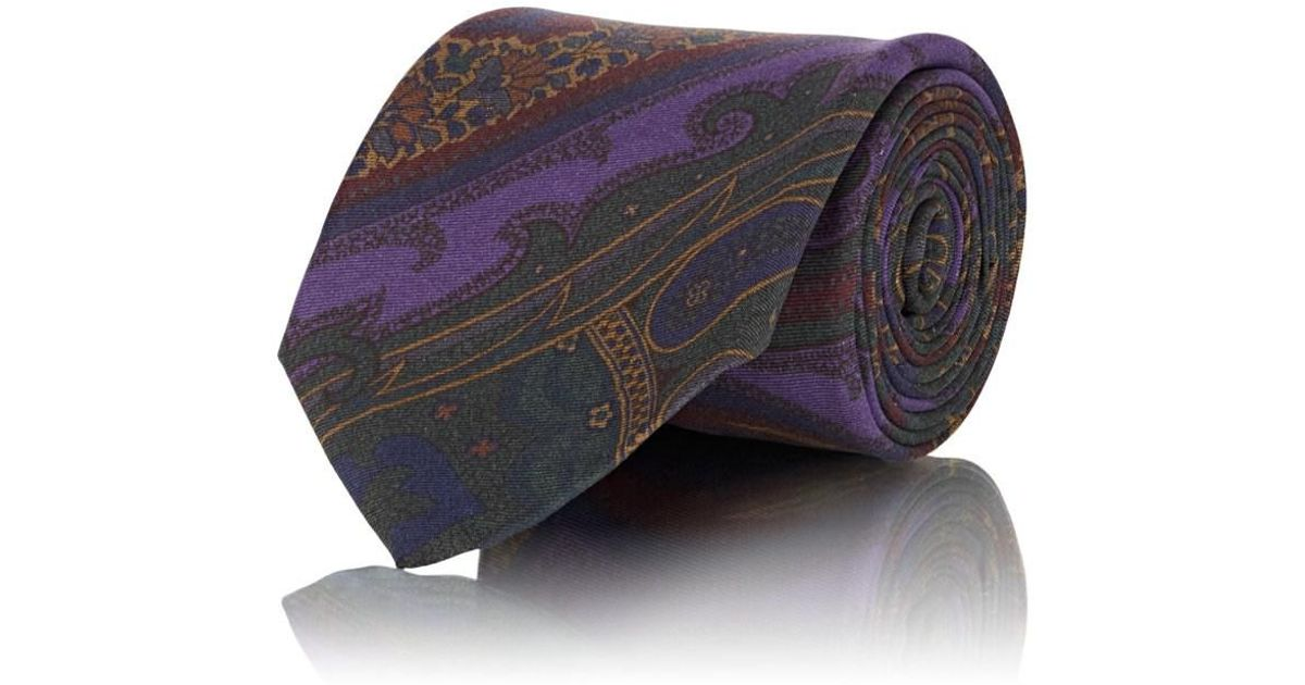 Ralph Lauren Purple Label Mens Italy Solid Hand Knit Silk Square Sock Neck Tie