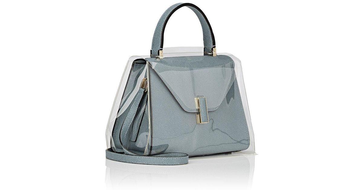 14835624113b Valextra Iside Mini Handbag Raincoat in Blue - Lyst