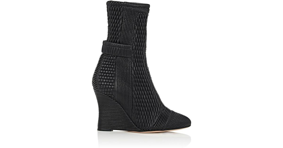 fd9e38b21cea Lyst - Alchimia Di Ballin Polydon Quilted Leather Ankle Boots in Black