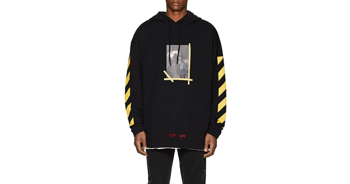 229bb9368e67 Lyst - Off-White c o Virgil Abloh Annunciation Cotton Terry Hoodie in Black  for Men