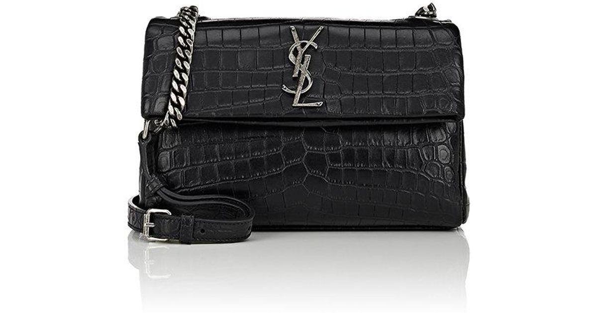 83f36133f Saint Laurent Monogram West Hollywood Small Shoulder Bag in Black - Lyst