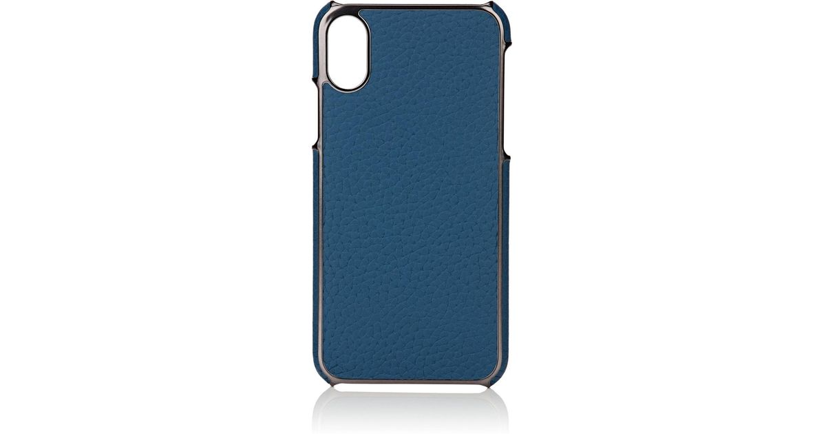 size 40 e1344 3d282 Barneys New York Blue Leather Iphone® X Case