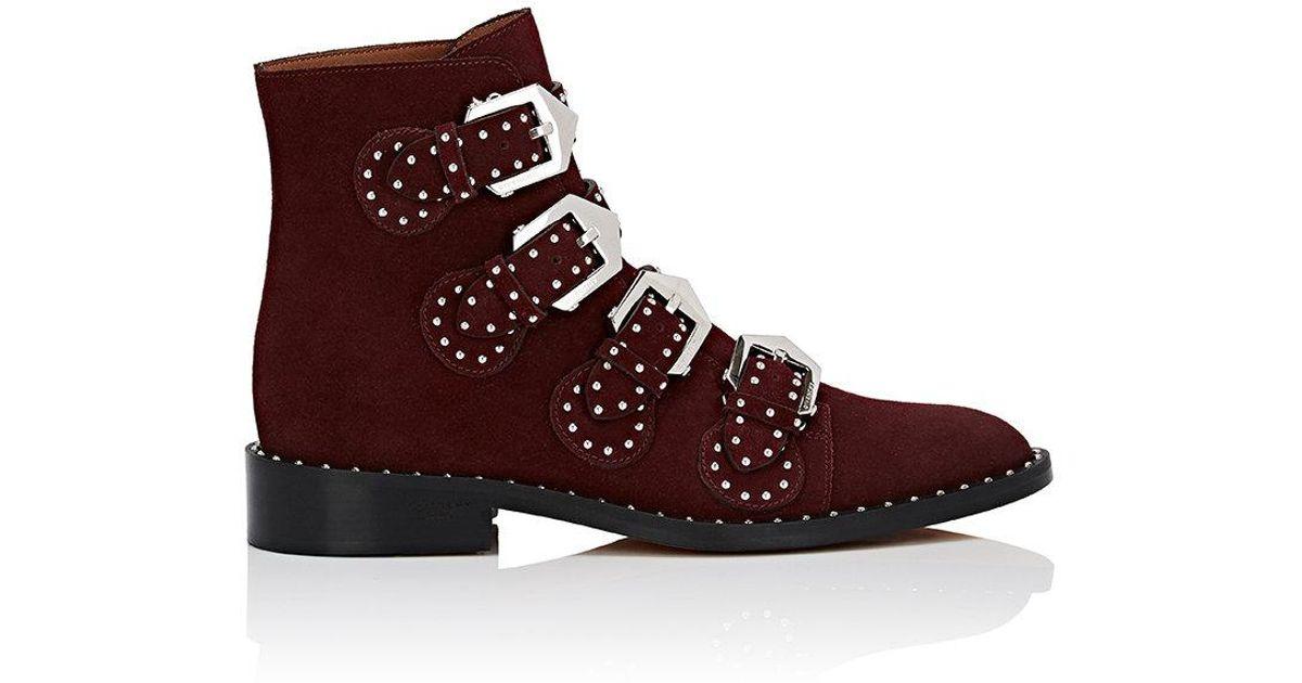 Givenchy Burgundy Suede Elegant Boots y4PNphDW