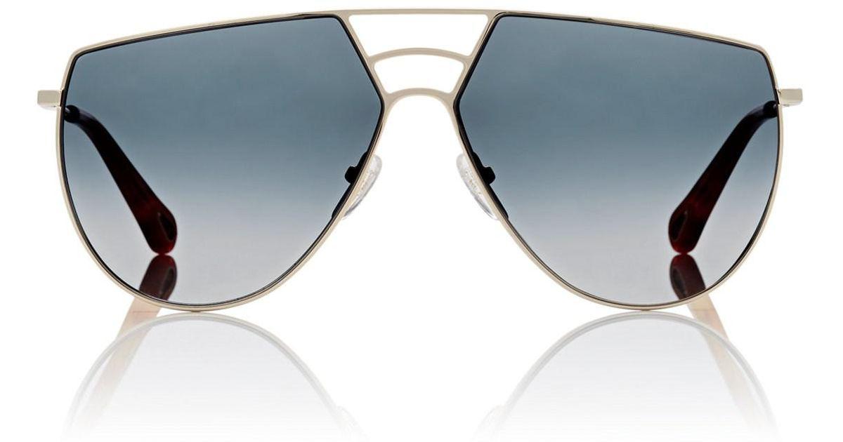 48f502551a9 Chloé Ricky Sunglasses in Metallic - Lyst
