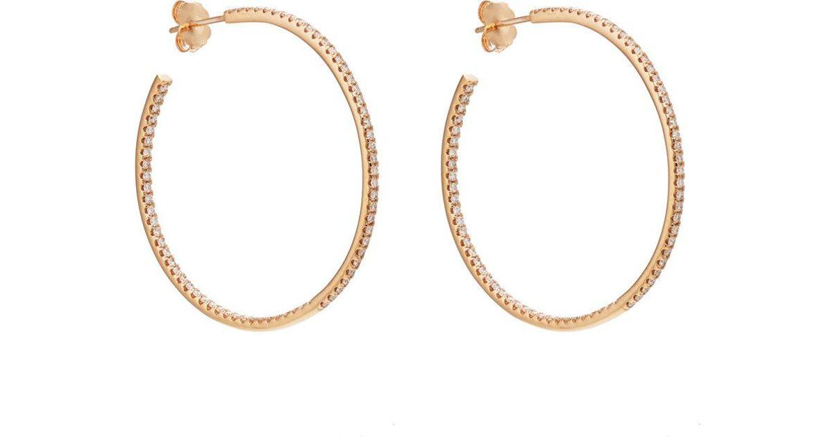 Sara Weinstock Womens Veena Small Hoop Earrings 9CiqbR0o