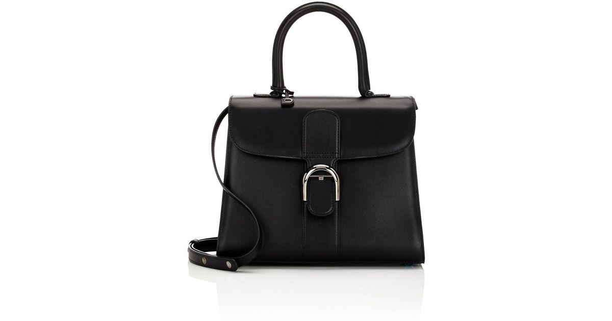 882bb84571 Lyst - Delvaux Brillant Mm Leather Satchel in Black