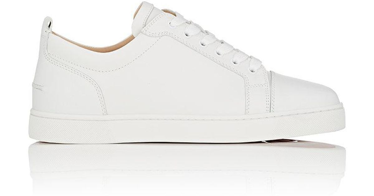 667d506dc8e51 Christian Louboutin Louis Junior Flat Leather Sneakers in White for Men -  Lyst