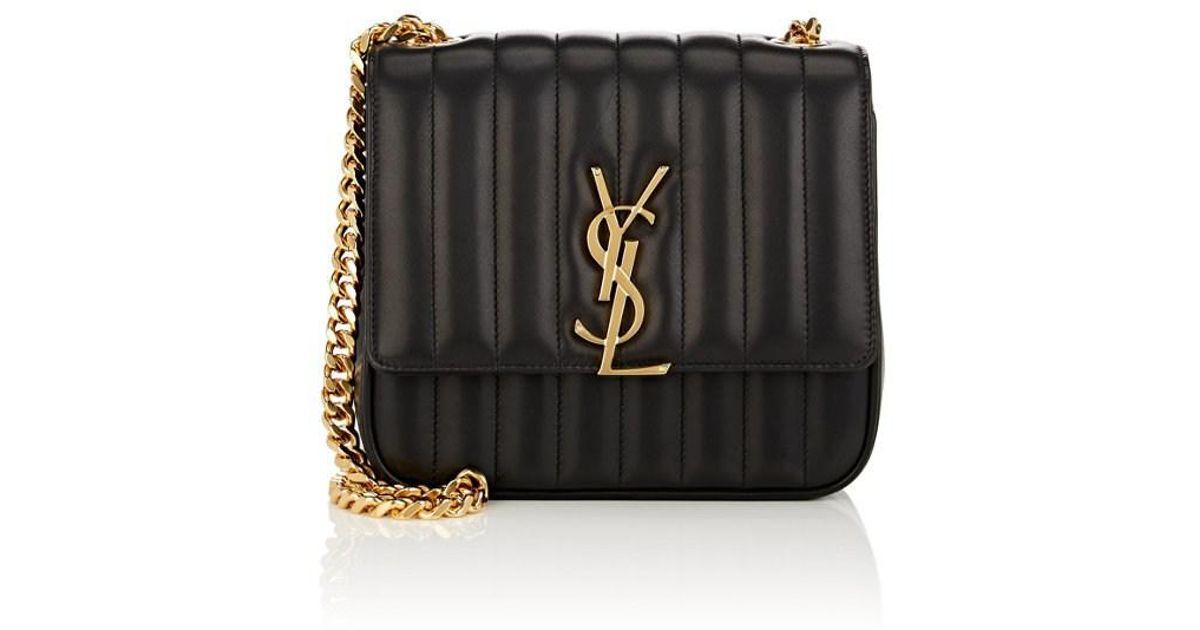 260d4441eb6 Saint Laurent Vicky Medium Ysl Monogram Chain Crossbody Bag in Black - Save  23% - Lyst