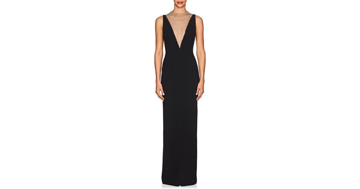 553b68740d Lyst - Stella McCartney Naomi Embellished-mesh Cady Gown in Black