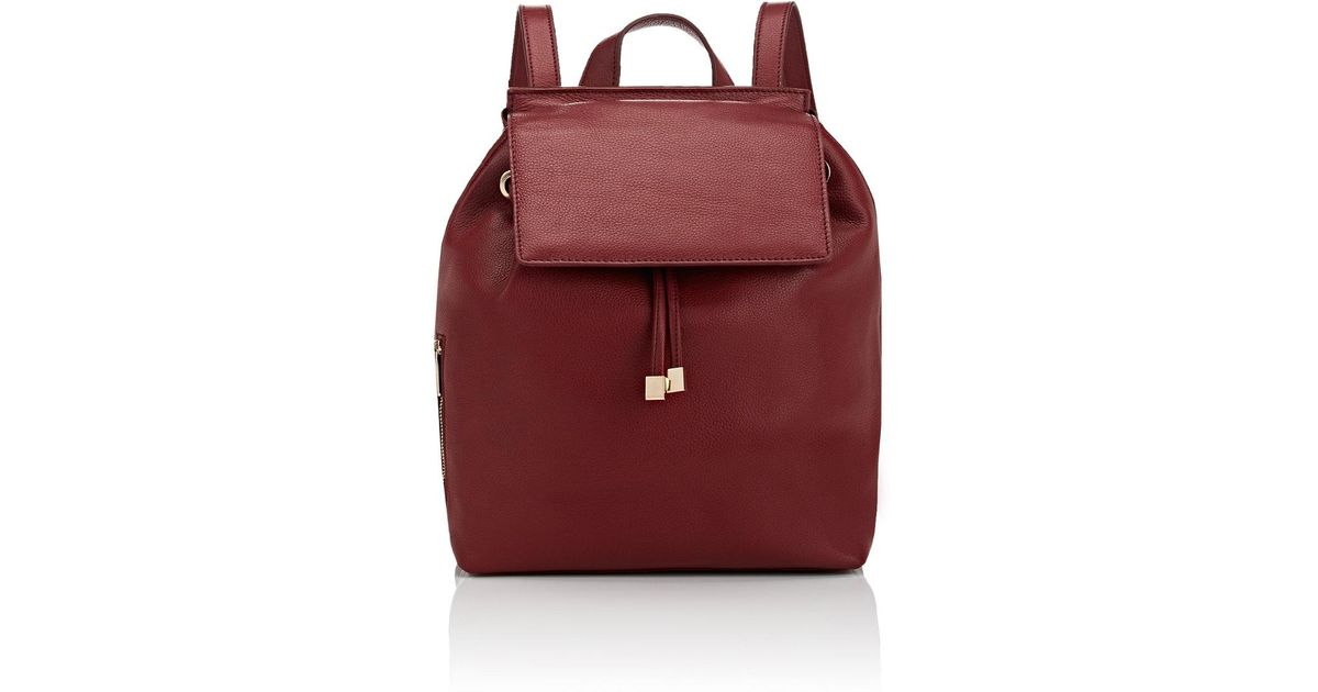 695faf4b46b2 Lyst - Barneys New York India Leather Backpack in Red