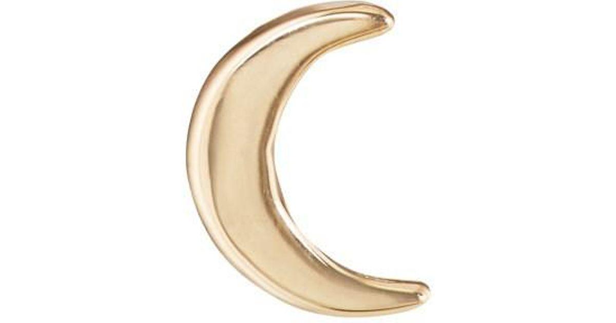 Womens Diamond Crescent Moon Stud Earring Barneys New York deBwlnS