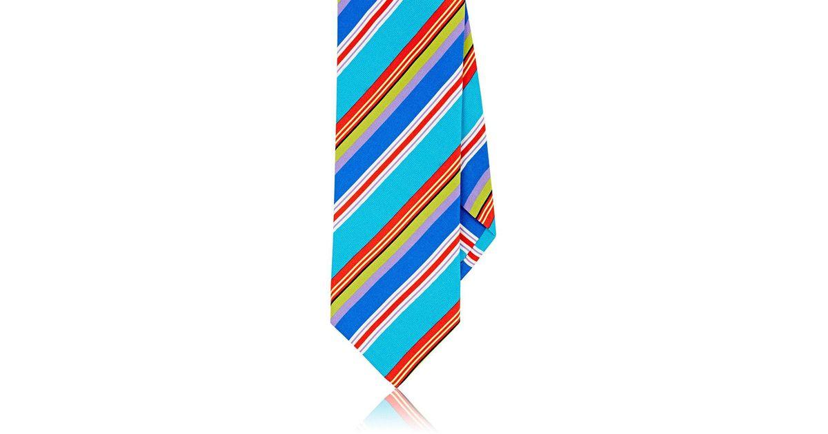 Mens Checked & Striped Silk Necktie Dolcepunta Q43Dd
