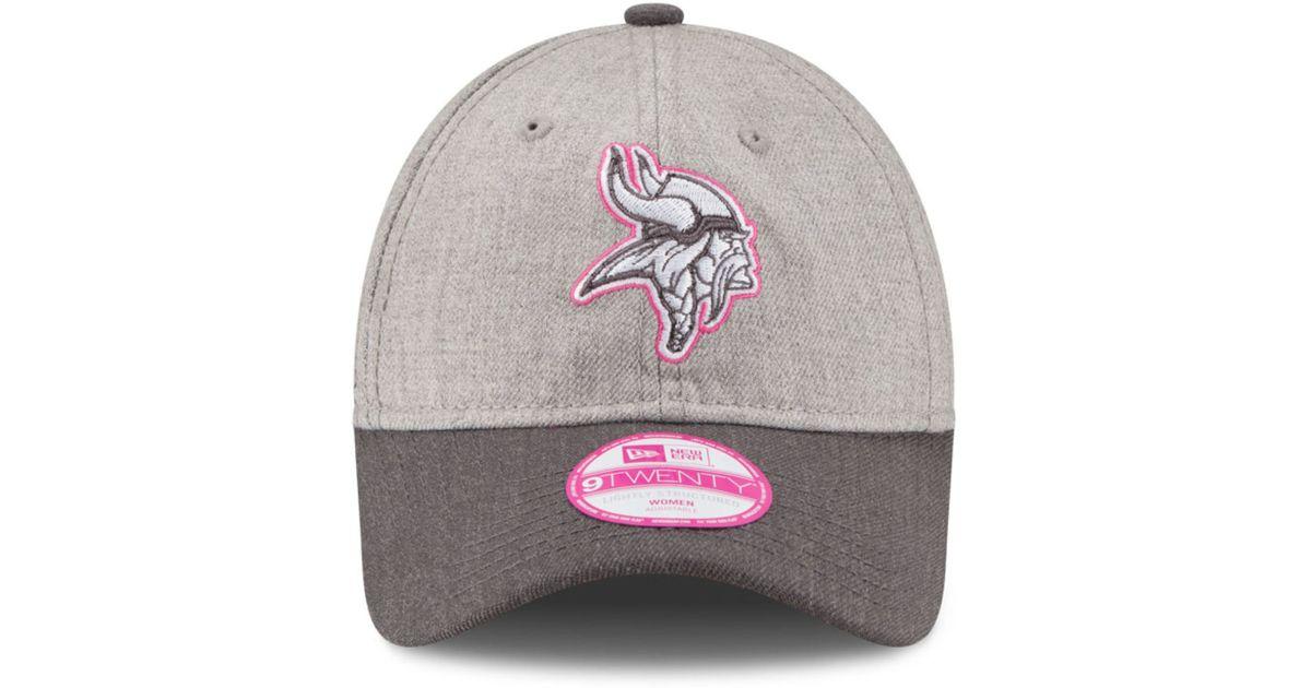 f0eb4f80e46 Lyst - KTZ Women s Minnesota Vikings Breast Cancer Awareness 9twenty Cap in  Gray