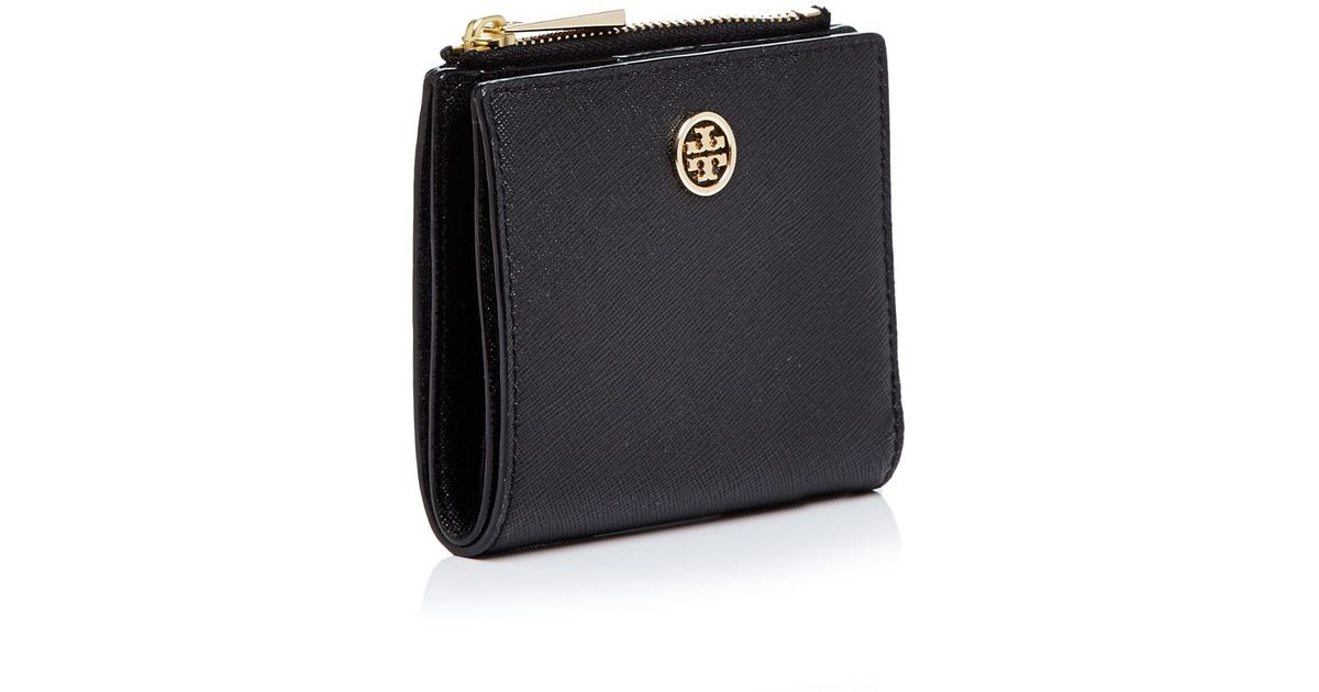 8f6168952920 ... reduced lyst tory burch robinson mini bi fold wallet in black b9277  42258