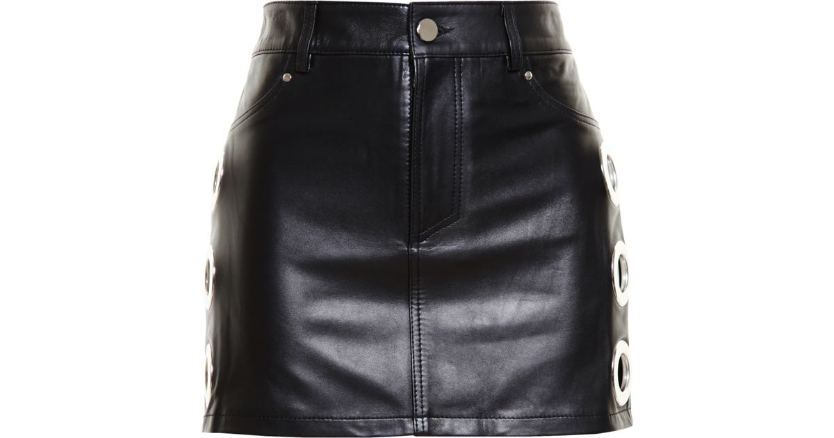 14cb3ebca7 Filles A Papa Leather Skirt in Black - Lyst