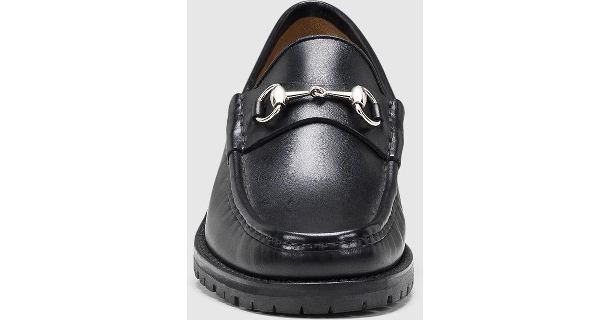 1aec2ab3b Gucci Men's Horsebit Loafer In Black Leather in Black for Men - Lyst