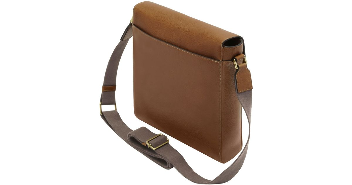 33de175f0d Lyst - Mulberry Maxwell Slim Leather Messenger Bag in Brown for Men