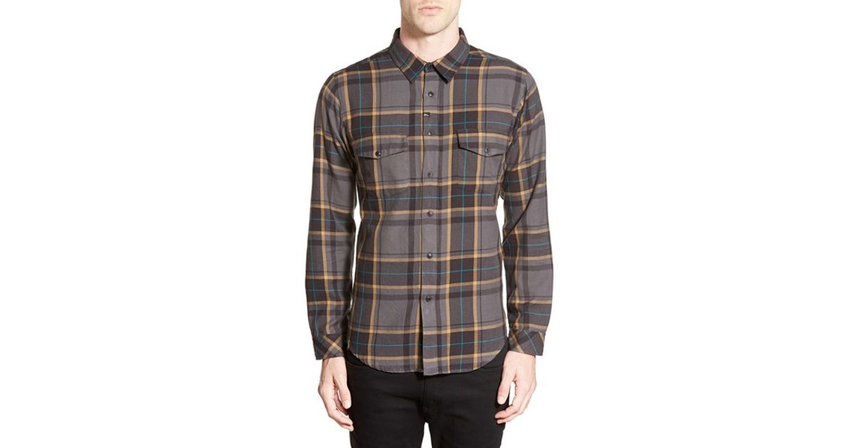 Imperial motion 39 parker 39 plaid cotton flannel shirt in for Black watch plaid flannel shirt