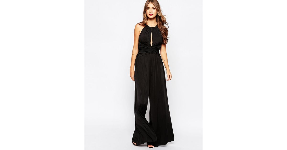 289fb3037362 Lyst - Forever Unique Jill Jumpsuit With Keyhole Detail in Black