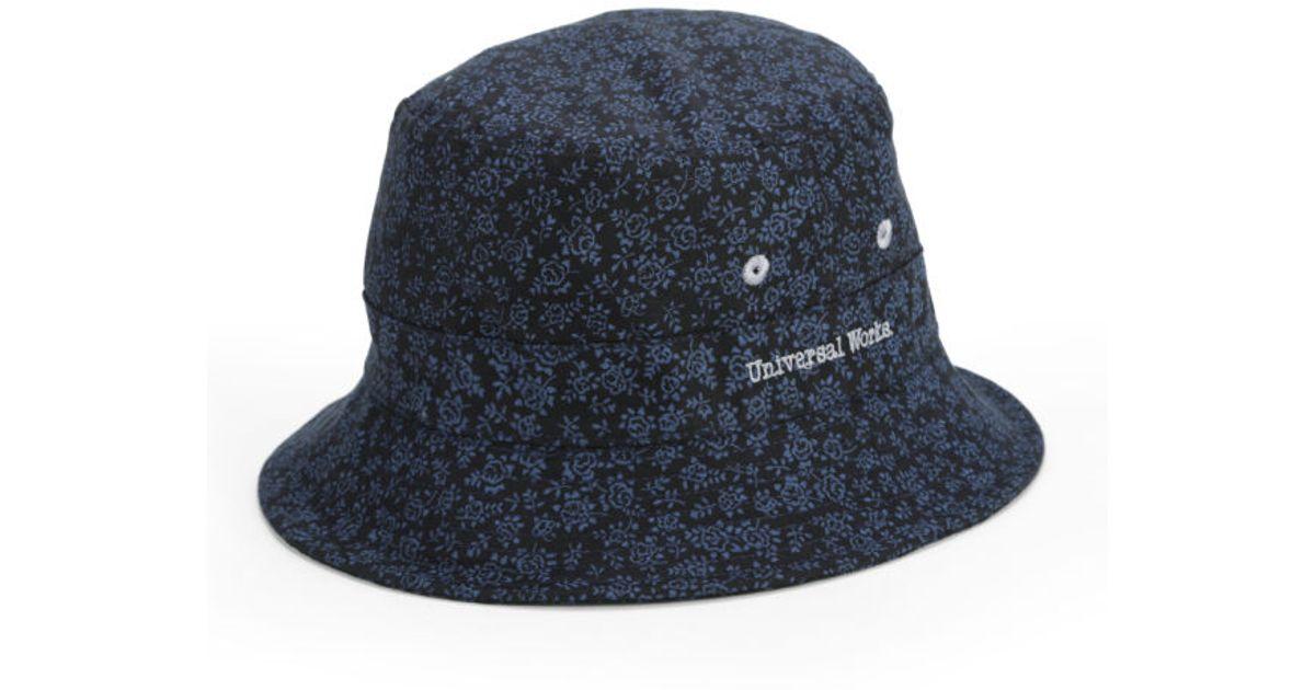10f9dd0cb31 Universal Works Mens Bucket Hat in Blue for Men - Lyst