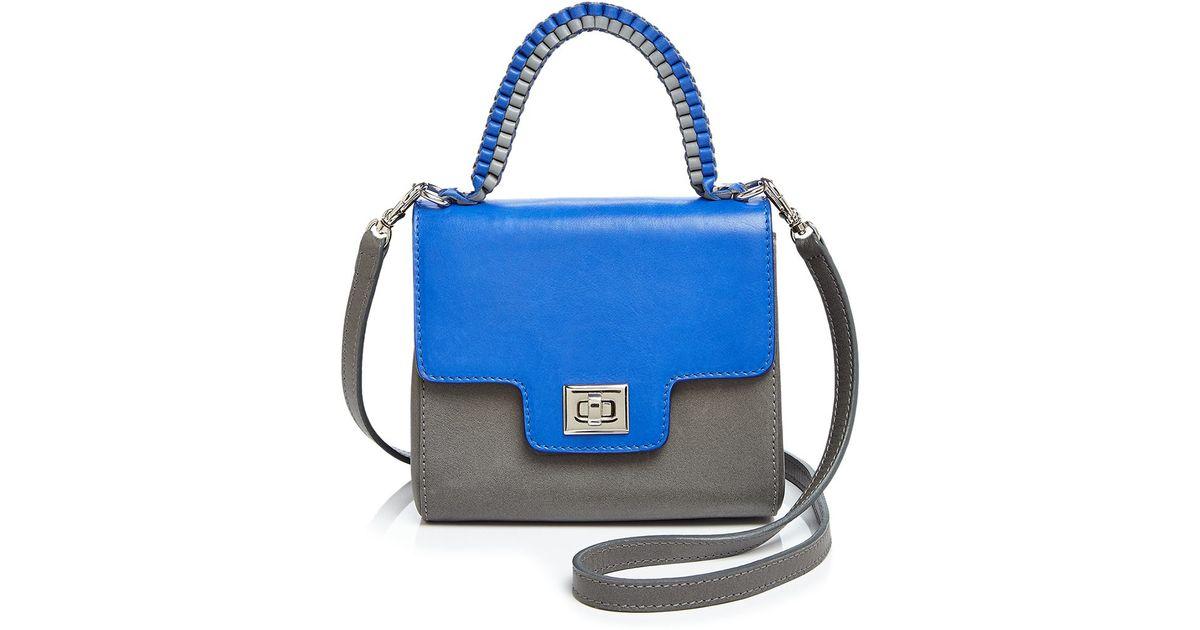 lili radu lili mini satchel in blue lyst. Black Bedroom Furniture Sets. Home Design Ideas