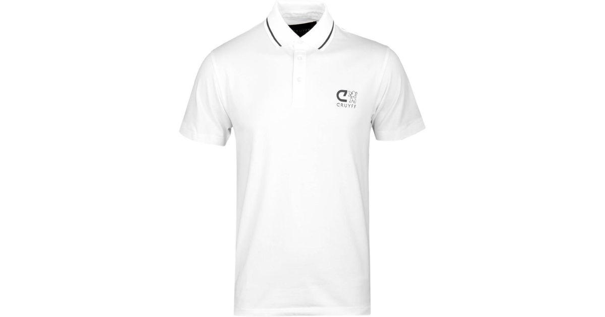 47ac8c69c Cruyff Classics Cruyff Pavore White Short Sleeve Polo Shirt in White for  Men - Lyst