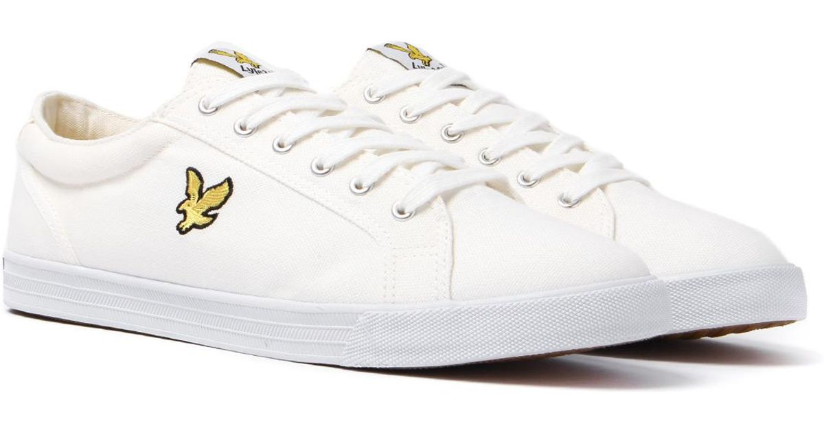 272304e5ade1 Lyle   Scott Halket White Canvas Trainers in White for Men - Lyst