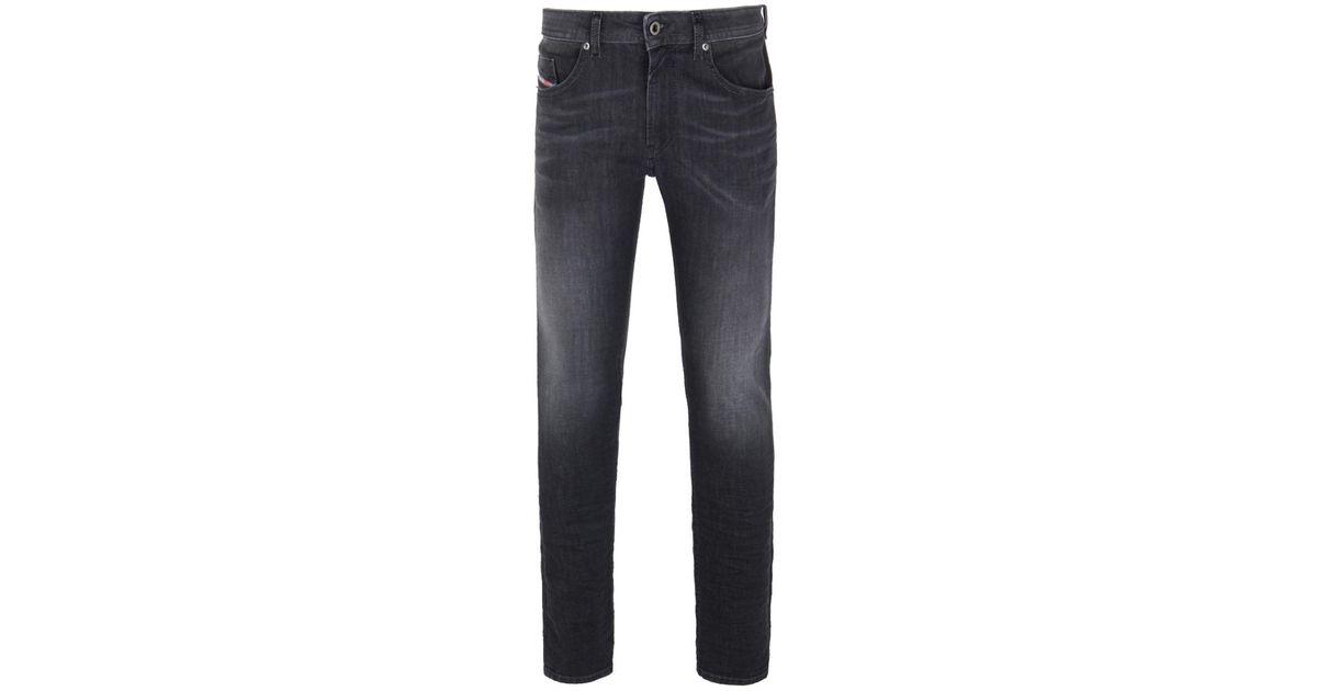 027a07ea Lyst - DIESEL Washed Black Thommer Skinny Jeans in Black for Men