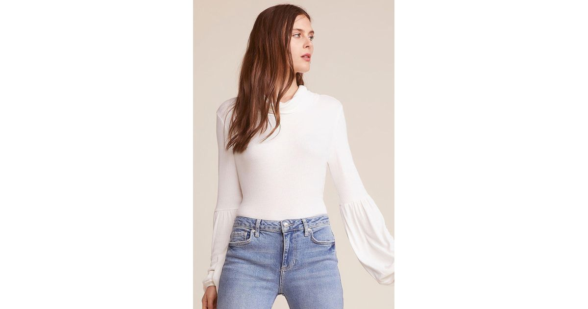 1b559426d845 Lyst - Jack BB Dakota You Fancy Huh Back Cut Out Bodysuit in White