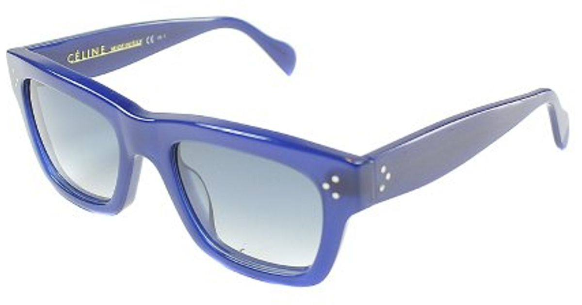 fcc05ef2bbdbd Lyst - Céline Cl 41732 M23 Blue Sunglasses Grey Gradient Lens in Blue