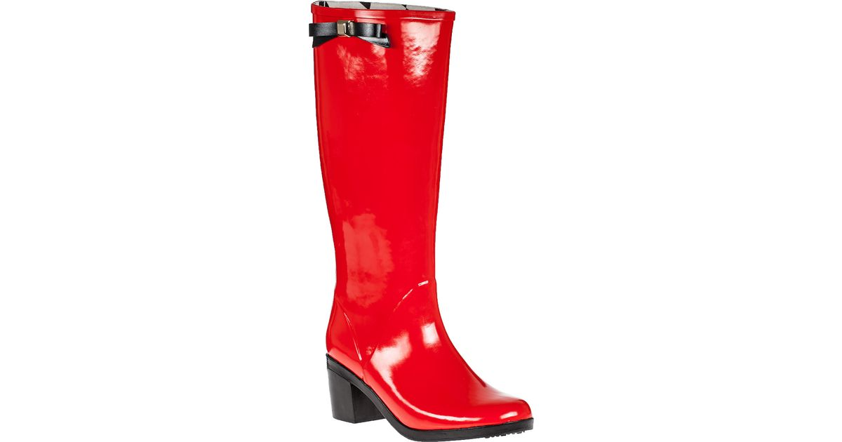 Kate Spade New York Romi Rain Boot Red Rubber In Red Lyst