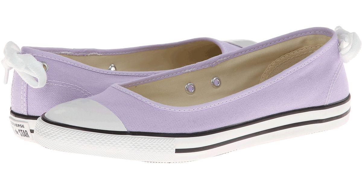 aeda99fd8848 Lyst - Converse Chuck Taylor All Star Dainty Ballerina Slipon Ox in Purple