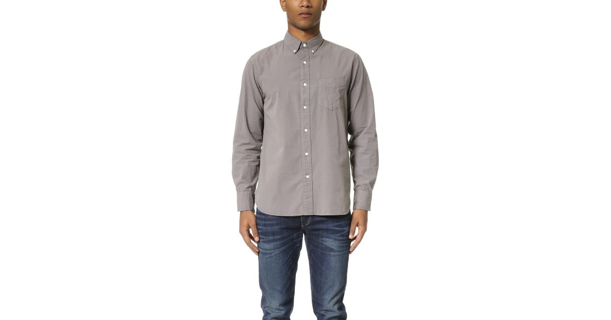 Rag bone standard issue shirt in gray for men lyst for Rag and bone mens shirts sale