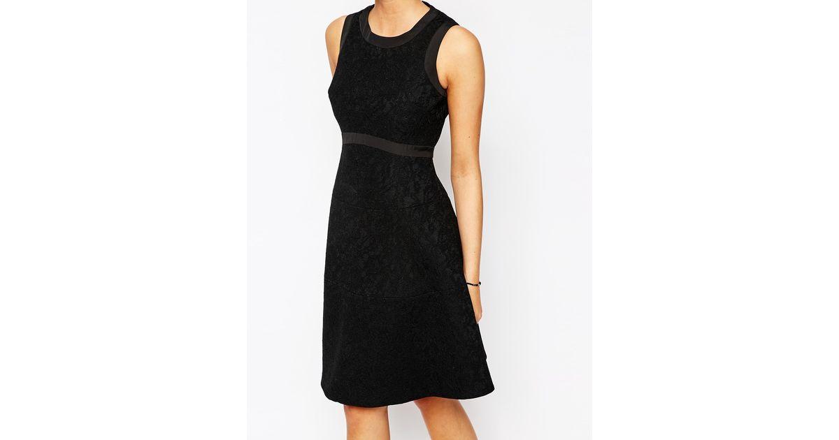 Lyst Coast Louisa Lace Dress In Black