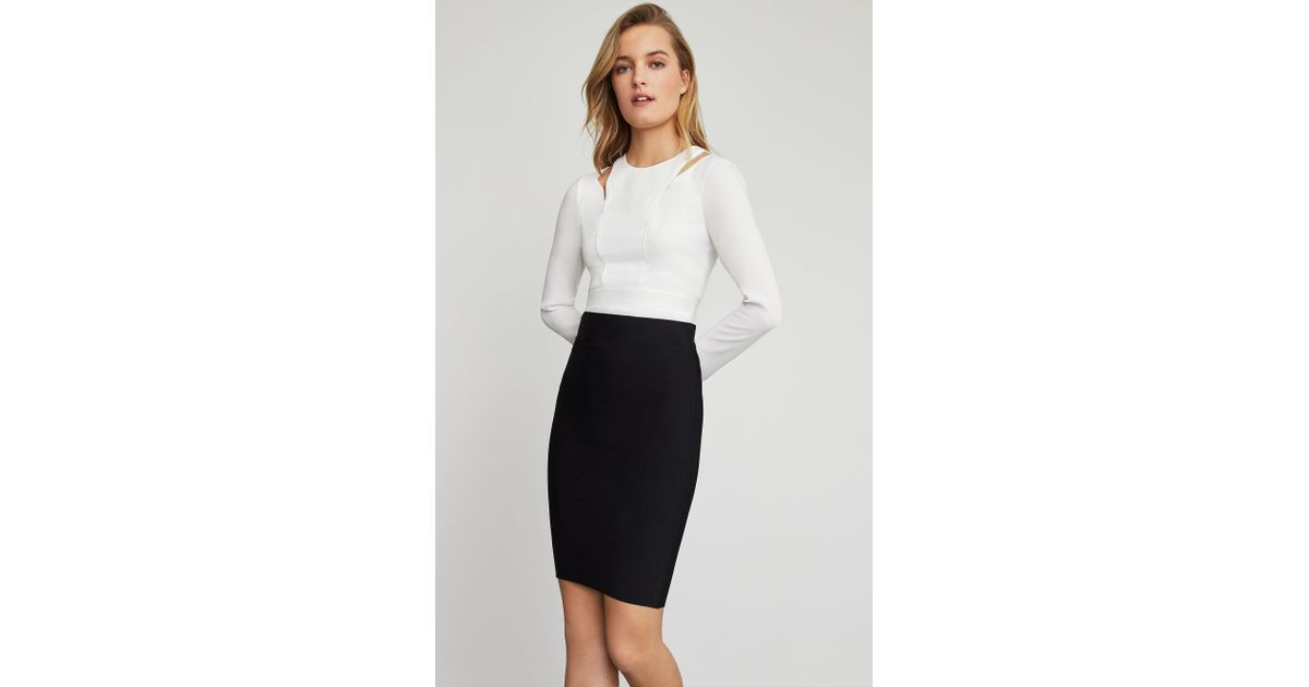 fcd0ebe63 BCBGMAXAZRIA Bcbg Nathalia Pencil Skirt in Black - Lyst