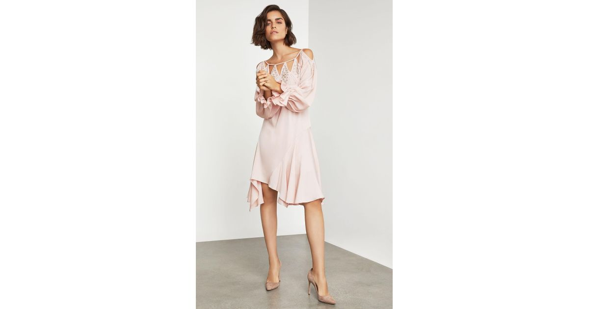 af535a2598 BCBGMAXAZRIA Bcbg Embroidered Cutout Cocktail Dress in Pink - Lyst