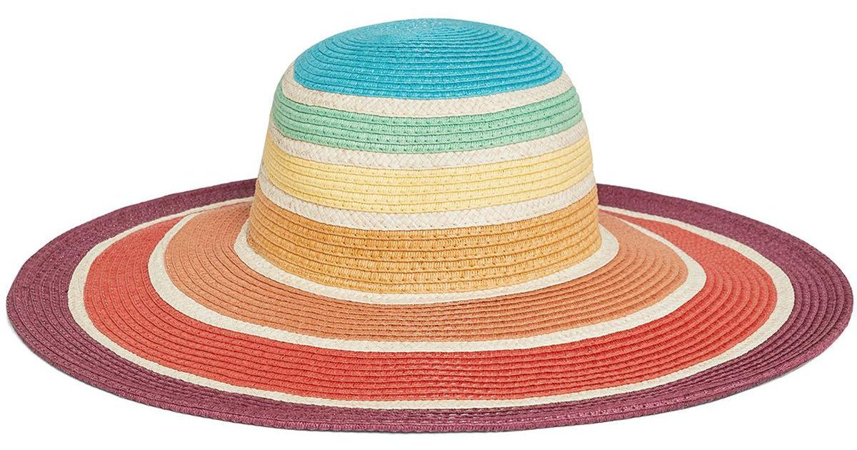 52ad5a04c7 Lyst - BCBGeneration Rainbow Floppy Hat