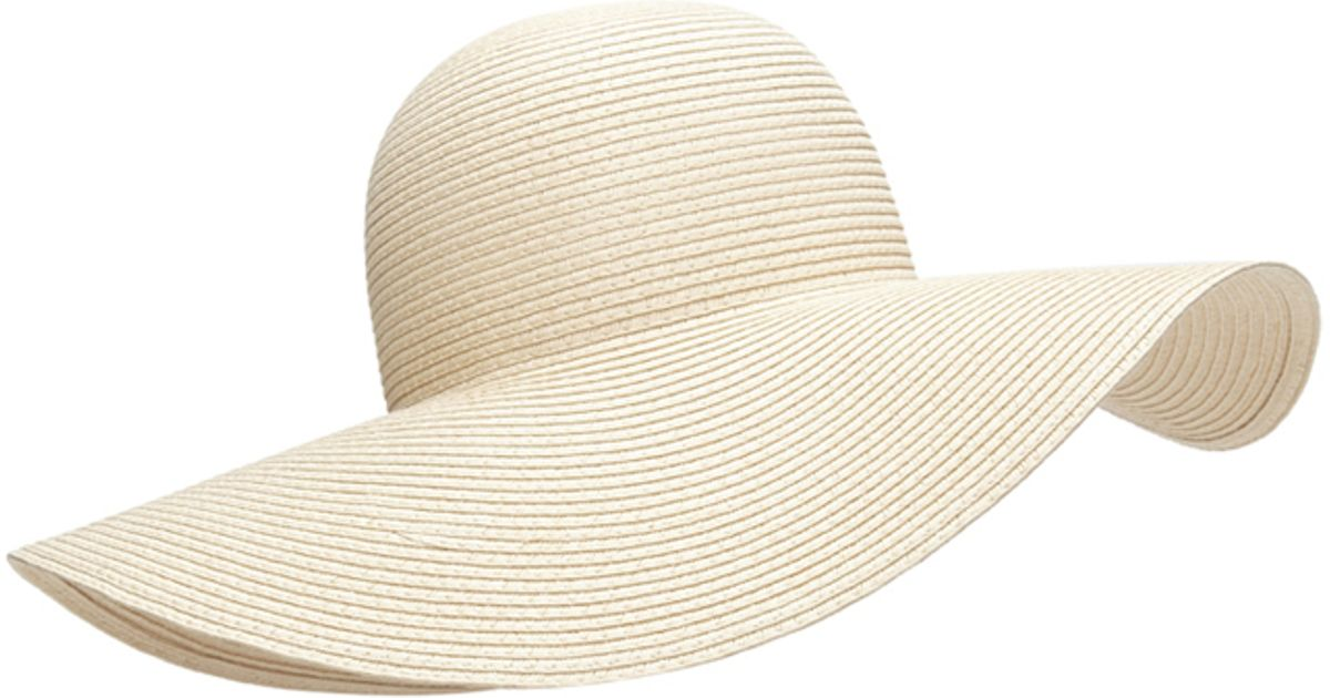3a87707bcd0 Lyst - Forever 21 Floppy Wide-brim Straw Hat in Natural