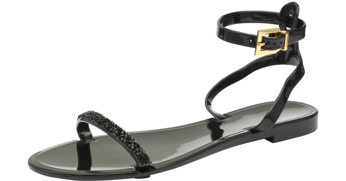 ac9dc81d03eb Ted Baker Amorpha Ankle Strap Jelly Sandals in Black - Lyst