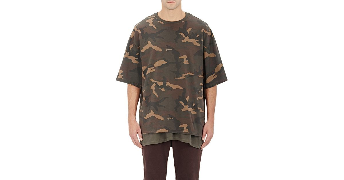 Adidas originals by kanye west yeezy season 1 Camouflage T-shirt