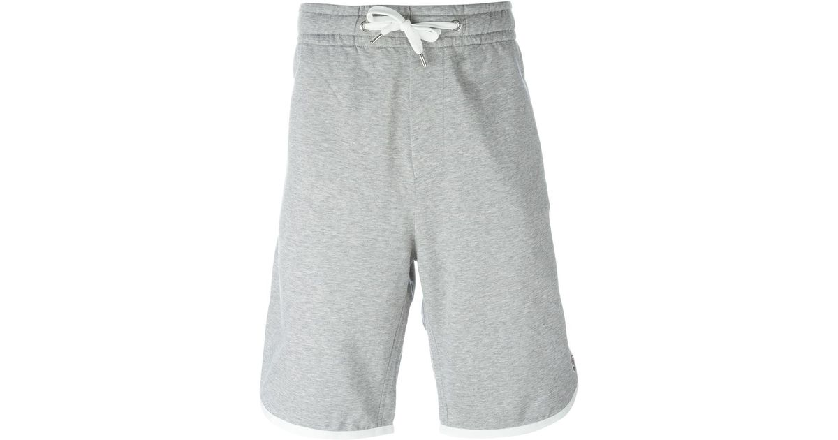 82d49bca6291 Lyst - Moncler Drawstring Sweat Shorts in Gray for Men