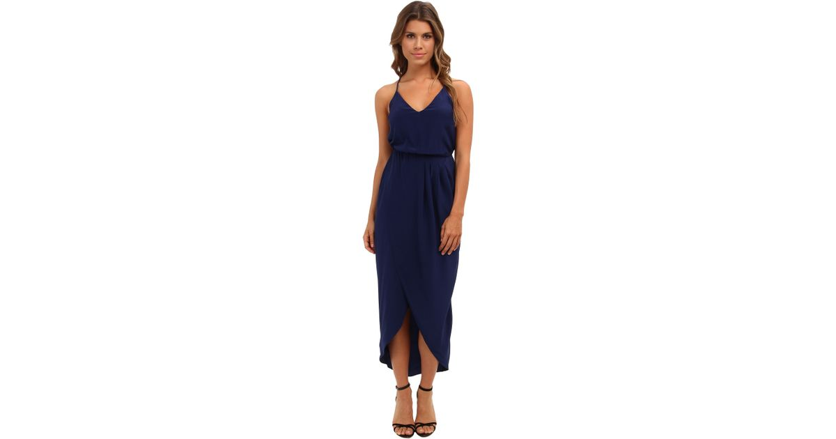 2c4dbec998e2 Lyst - Amanda Uprichard Cricket Maxi Dress in Blue