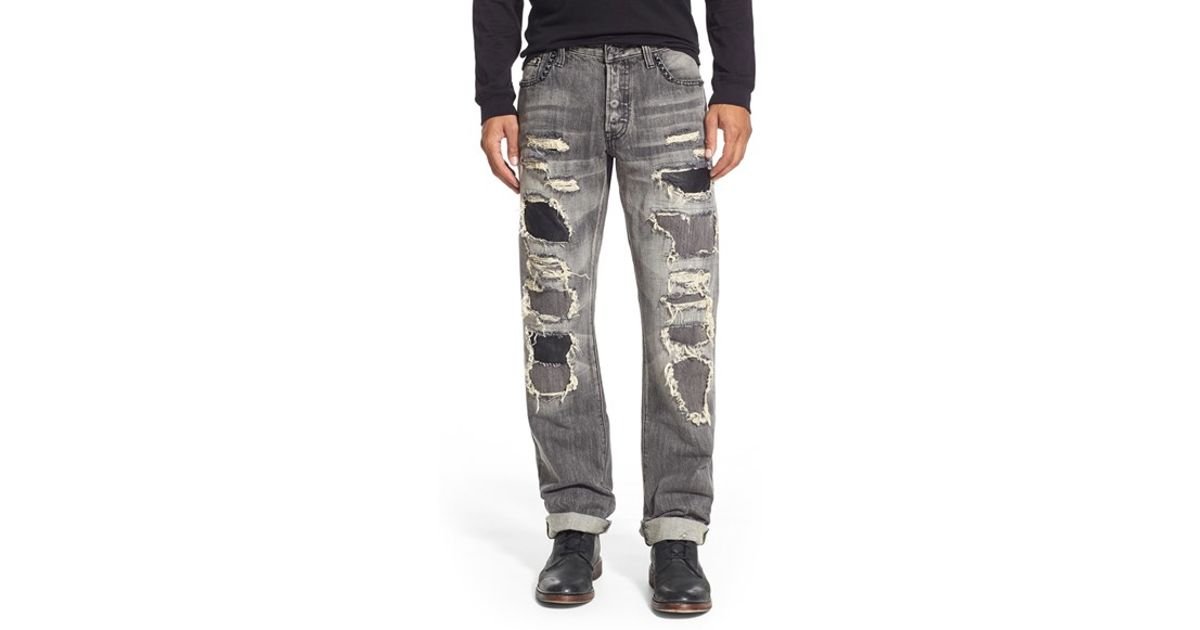 Prps 'barracuda - Roka' Destroyed Straight Leg Jeans in Gray for ...