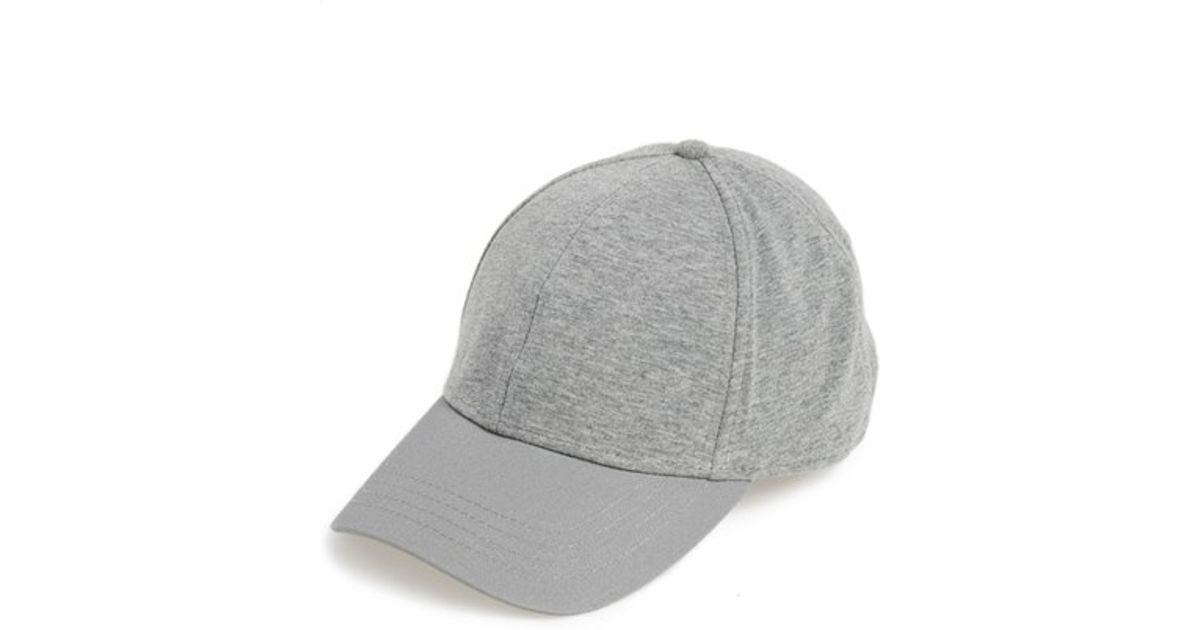 ccd0f5113b3 Lyst - TOPMAN Jersey Baseball Cap in Gray for Men