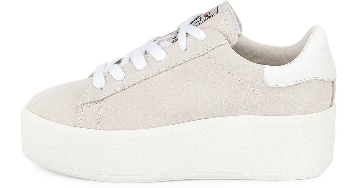 cadd4cad269 Ash Cult Suede Platform Sneaker in White - Lyst