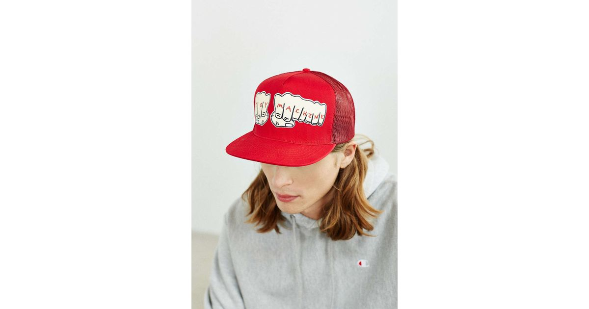 Lyst - Toy Machine Fists Trucker Hat in Red for Men 6b9d7964041