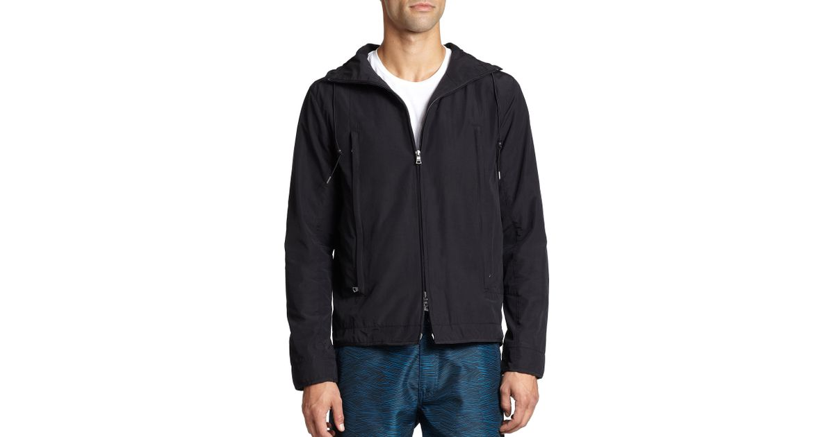 Onia Shaw Cotton Blend Tech Jacket In Black For Men Lyst
